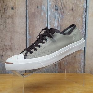 Converse Jack Purcell Sneakers Gray Canvas Sz 9.5